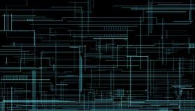 Technischer Hintergrund auf einem dunklen Hintergrund Lizenzfreie Stockfotos