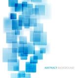 Technischer Hintergrund der blauen glänzenden Quadrate Vektor Stockbild