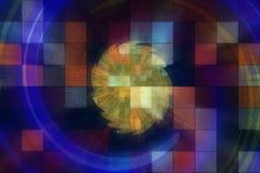 Technischer Hintergrund der Mehrfarbenkunst Stockfotos