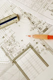 Technischer Plan 8 Lizenzfreies Stockfoto