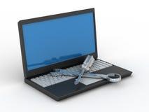 Technischer Service des Computers.