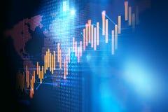 Technisches Finanzdiagramm auf Technologiezusammenfassungshintergrund stock abbildung