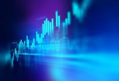 Technisches Finanzdiagramm auf Technologiezusammenfassungshintergrund Stockfotografie