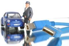 technition för hjälp för connectivity för affärsdator Arkivbild