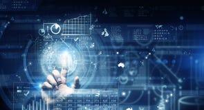 Technlogies di Digital in uso Immagine Stock