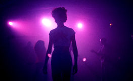 Techno översvallande berömparti Fotografering för Bildbyråer
