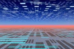techno οριζόντων Στοκ φωτογραφία με δικαίωμα ελεύθερης χρήσης