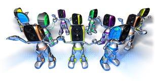 techno ρομπότ χορού ελεύθερη απεικόνιση δικαιώματος
