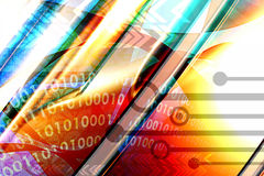 techno предпосылки multicolor Стоковые Изображения