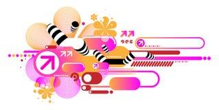 techno состава розовое Стоковая Фотография