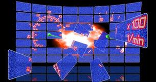 techno спидометра экрана Стоковая Фотография