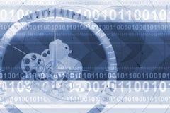 techno часов предпосылки Стоковое фото RF