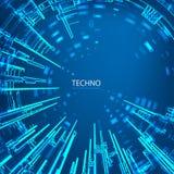 Techno 3 stock illustratie