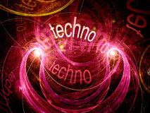 Techno abstract background Royalty Free Stock Photos