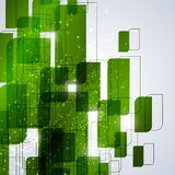 Green technology abstract background. For website, banner, business card, invitation, postcard Royalty Free Stock Photos