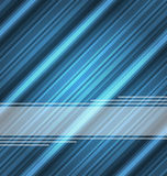 Techno abstract blue background, striped texture Stock Photo