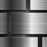 Techno metal vector abstract background Stock Photo