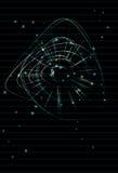 Techno alineó el fondo abstracto Foto de archivo