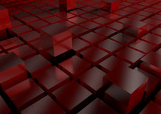 Techno background cubes 3D Stock Photography