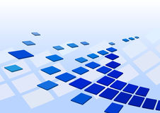 Techno background with squares. Abstract modern background with blue squares Stock Image