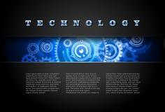 0482 Techno bakgrundsblått Royaltyfri Foto