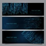 Techno banners collection Royalty Free Stock Image