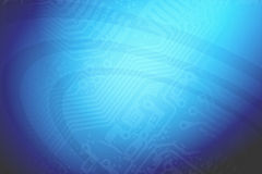 Techno blue background Stock Photography
