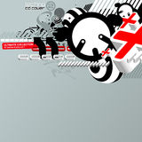 Techno CD cover 2. Abstract techno style 3D composition Royalty Free Stock Images