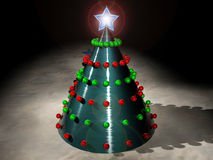 Techno Christmas. An rendered image of a techno Christmas tree Stock Image