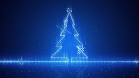 Techno christmas tree electric wave Stock Photography