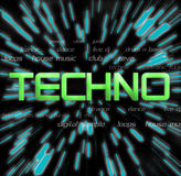 Techno Collage. A word collage themed around techno music Stock Photography