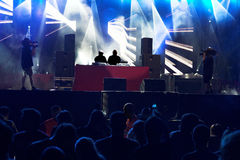 Techno concert crowd royalty free stock image