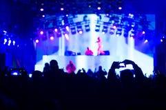 Techno concert stock photos