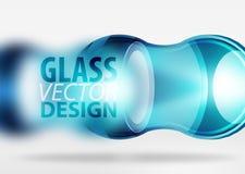 techno 3d Glasblasendesign Stockfotografie