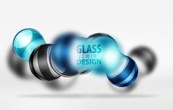 techno 3d Glasblasendesign Lizenzfreies Stockbild