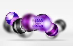 techno 3d Glasblasendesign Stockbild