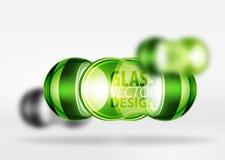 techno 3d Glasblasendesign Lizenzfreie Stockbilder