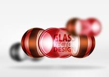 techno 3d Glasblasendesign Stockbilder