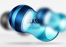 techno 3d Glasblasendesign Lizenzfreie Stockfotografie