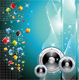 Techno Dance Background Stock Image