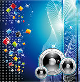 Techno Dance Background Royalty Free Stock Images