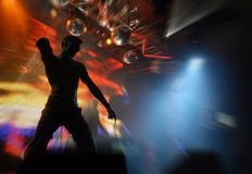 Techno dancer royalty free stock image