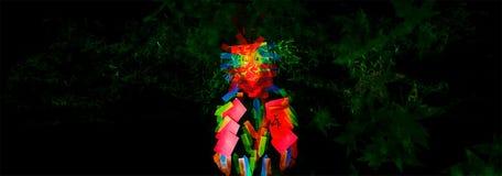 Techno de partie de note d'amour de perroquet Images libres de droits