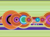 Techno del círculo de la cosecha de la raya stock de ilustración