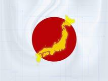 Techno do mapa de Japão Foto de Stock