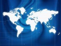 Techno do mapa de mundo Fotografia de Stock Royalty Free