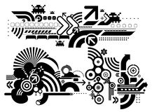 Techno elemetnts 412. Set of techno compositions for print multimedia and web Royalty Free Stock Photography