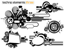 Techno elemetnts set three Stock Images