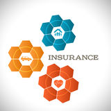 Techno flower concept insurance infographics template Royalty Free Stock Photography