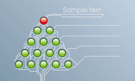 Techno fur-tree. Card of horizontal format to Christmas and New year Stock Photo